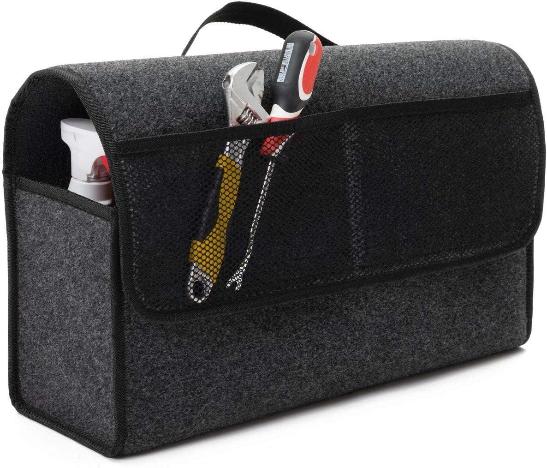 Farbe Grau mit schwarzen Lamellen Versand ab Sofort. EJP F/ür VW T5 Kofferraumtasche Organizer Werkzeugtasche Autotasche Tragf/ähigkeit bis 20 kg in h/öchster Qualit/ät