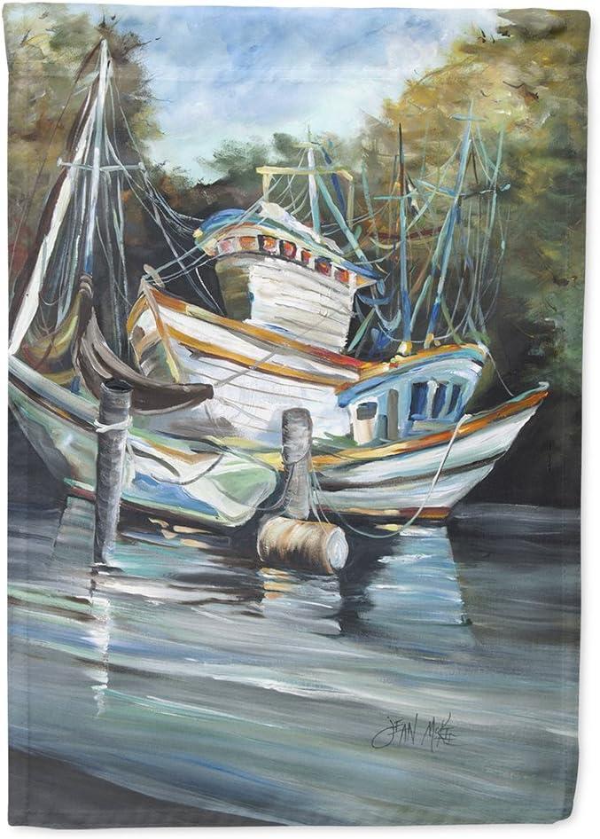 Caroline's Treasures JMK1152GF Shrimpers Cove and Shrimp Boats Flag Garden Size, Small, Multicolor