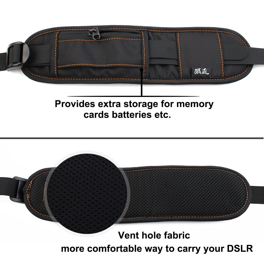 Amazon.com: eDealMax SHETU autorizado cámara Digital Universal SLR Correa del cinturón Negro Para DSLR: Electronics