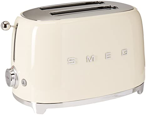 Amazon.com: Smeg tostadora para 2 rebanadas, color crema ...