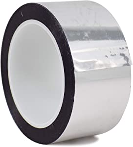 WOD MPFT2 Silver Metalized Polyester Mylar Film Tape with Acrylic Adhesive, 6 inch x 72 yds. Excellent Chemical and Thermal Stability (Available in Multiple Colors & Sizes)