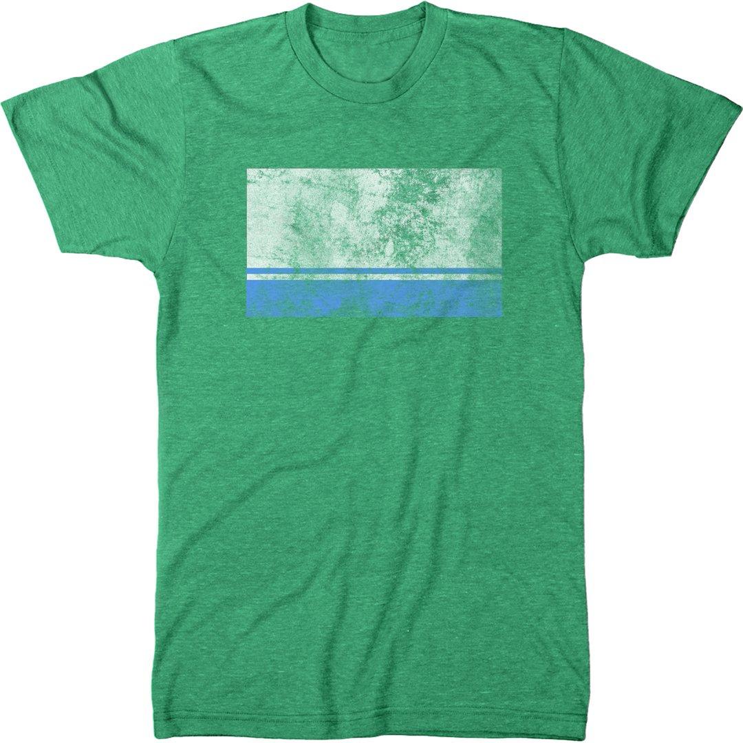 Distressed Altai Republic Flag Modern T Shirt 2747