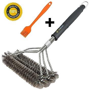 Barbacoa limpia limpiador de cepillo de acero inoxidable ...