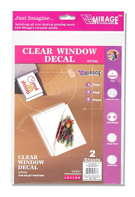 picture about Printable Window Cling referred to as Inkjet Printable Window Hold - 8.5 x 11 inches - 2 Parts