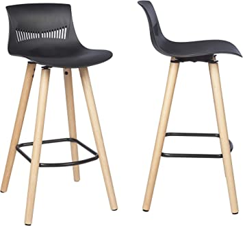 By Demeyere Sydney Lot De 2 Tabourets De Bar Noirs