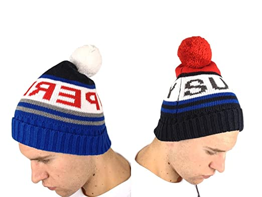 46dd250fc0c Superdry Mens 2 Pack Redford Logo Beanies - Royal Dark Navy (One Size)