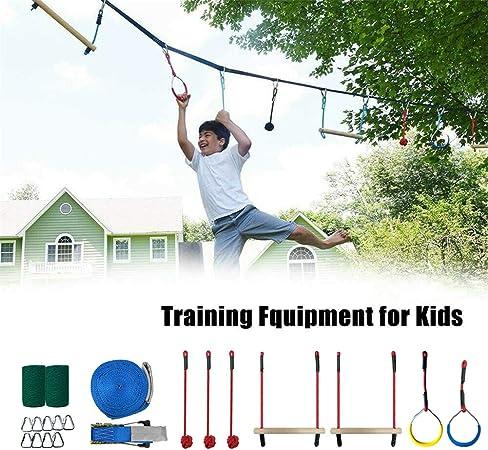 Ninja Rope 12M Slackline Juego De Accesorios Monkey Bar Kit ...