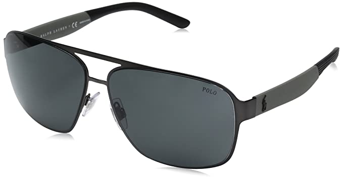 766f2b7fec Amazon.com  Polo Ralph Lauren Men s Metal Man Square Sunglasses ...