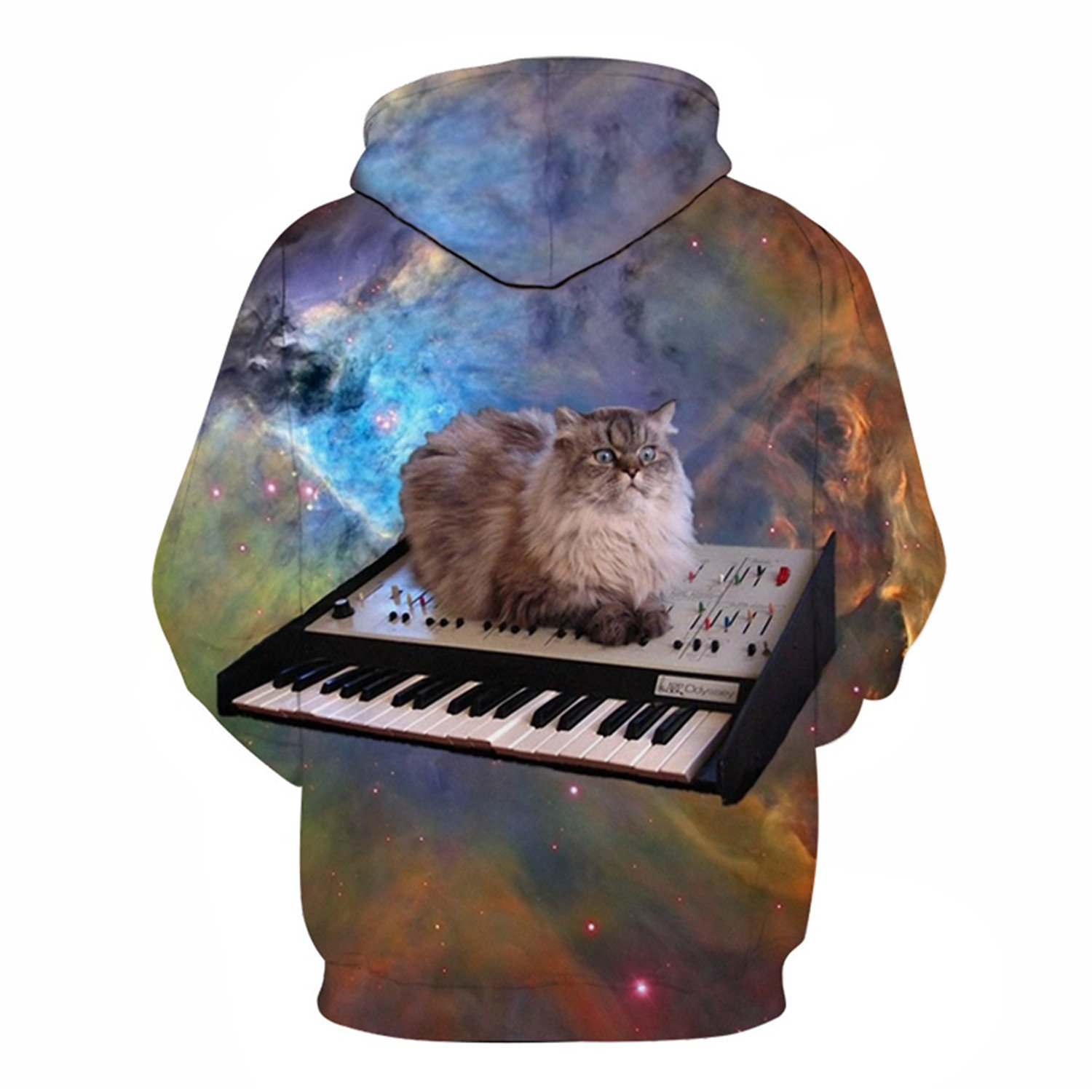 Matterin Christiao Space Cat Hoodies Men 3D Sweatshrits Hooded Pullover Fashion Tracksuit Printed 6XL Jacket Unisex Coats