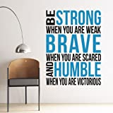 Wall sticker home decor Carved sticker Removable Wall Posters Be Strong English Proverb Decor
