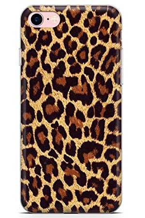huge discount 097de 9260b iPhone 7 Case, iPhone 8 Case, Gold Leopard Print Phone Case by Casechimp® |  Clear Ultra Thin Lightweight Gel Silicon TPU Protective Cover | Animal ...