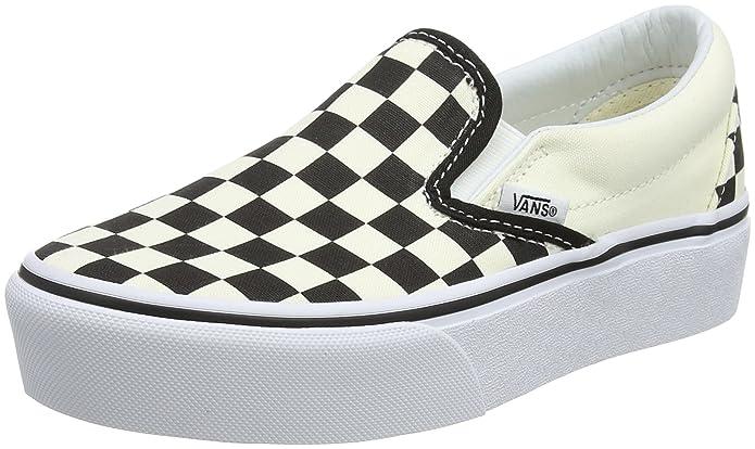 Vans Damen Classic Slip-on Platform Slip On Sneaker Schwarz/Weiß kariert
