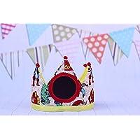 Pittitus corona de tela para cumpleaños bebés y niños con pizarra