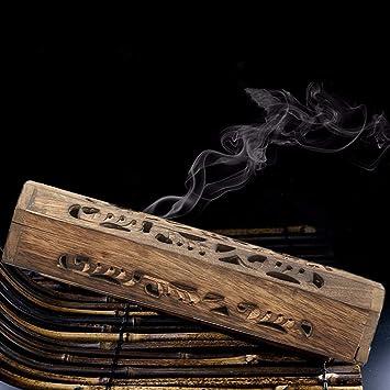 ZHENWOFC Incienso Mango Estuche para palitos de incienso Burning Joss Box Inlay Cono Quemador Ash Catcher Piezas de hardware: Amazon.es: Bricolaje y herramientas