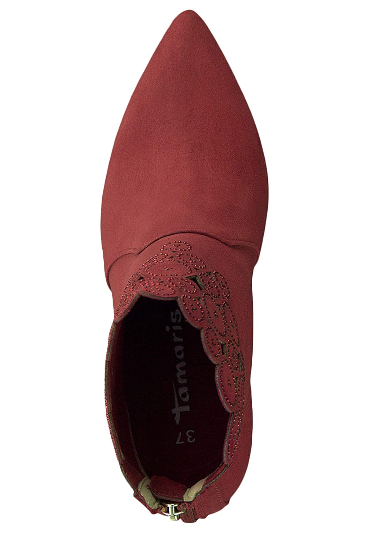 1 25709 31 515 Damen Lipstick Rot Stiefelette High Heeled