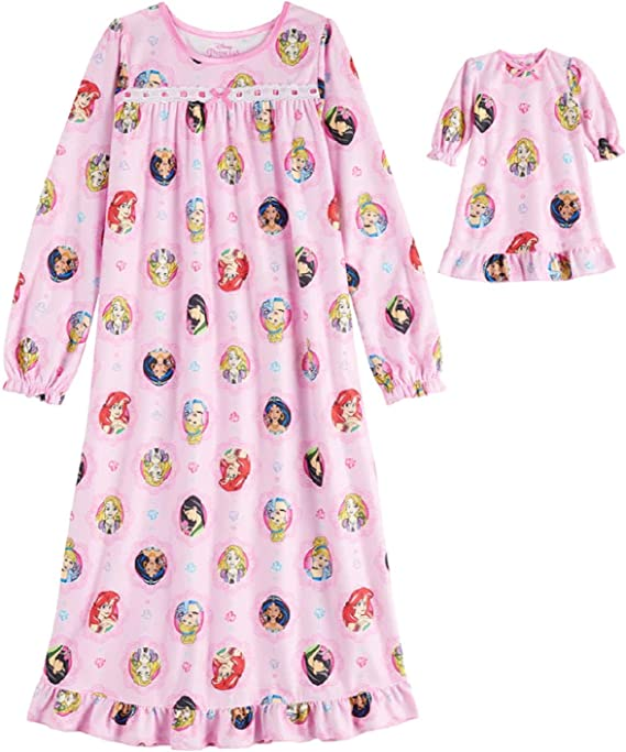 4 Disneys Princess Nightgown Girls