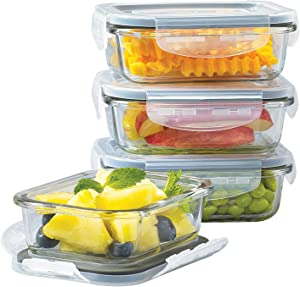 Mason Craft & More V1535 Food Storage container, 8PC RECT MINI, Clear