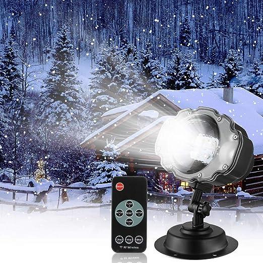 Nevadas LED luz Proyector Exterior, Navidad llevó Nieve Paisaje ...
