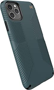 Speck Products Presidio2 Grip Case, Compatible with iPhone 11 PRO Max, Terrain Green/Black/Caramel Brown
