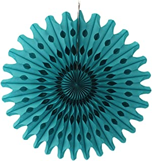 product image for Devra Party 6-Pack 18 Inch Large Honeycomb Tissue Paper Fan (Teal Green)
