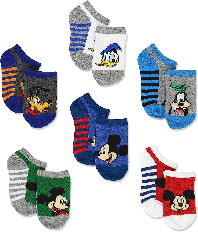 Toddler Disney Mickey Mouse Little Boys 6 pack Socks