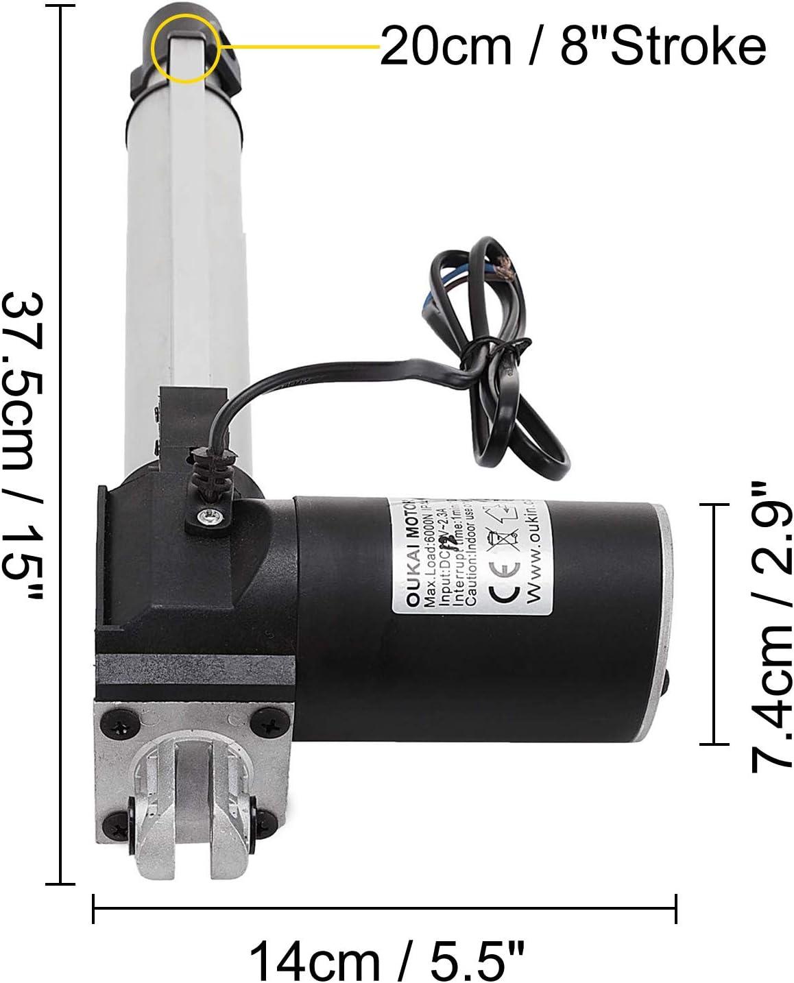 Moteur /électrique de Putter EBTOOLS Actionneur lin/éaire r/ésistant de Course Moteur dactionneur lin/éaire /électrique 500mm