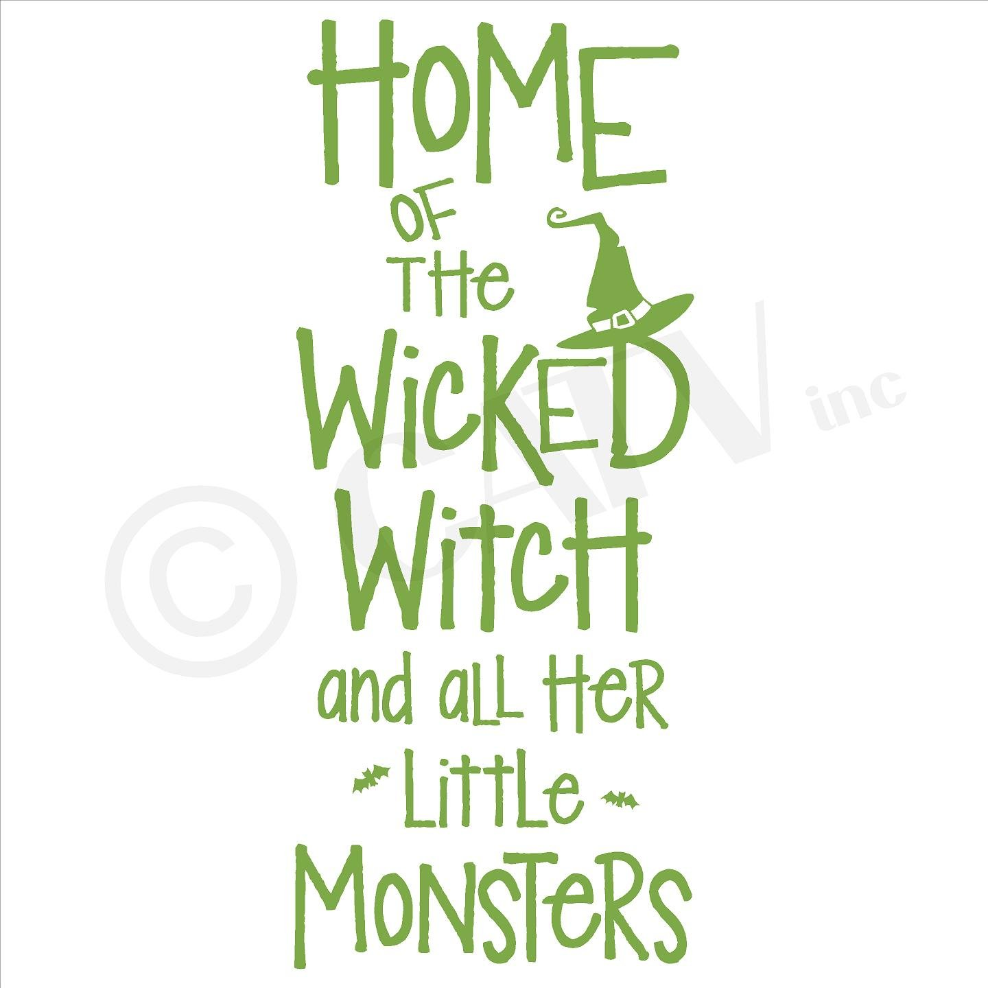 amazon com halloween home of the wicked witch and all her little