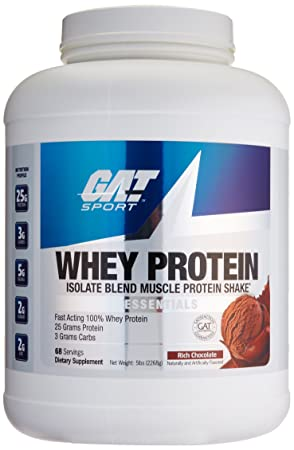 GAT Whey Protein Isolate Blend, Chocolate, 5 Pound