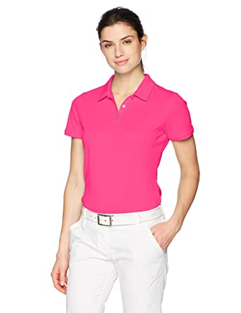 adidas Tournament Short Sleeve Polo, Solar Pink, M para Mujer ...