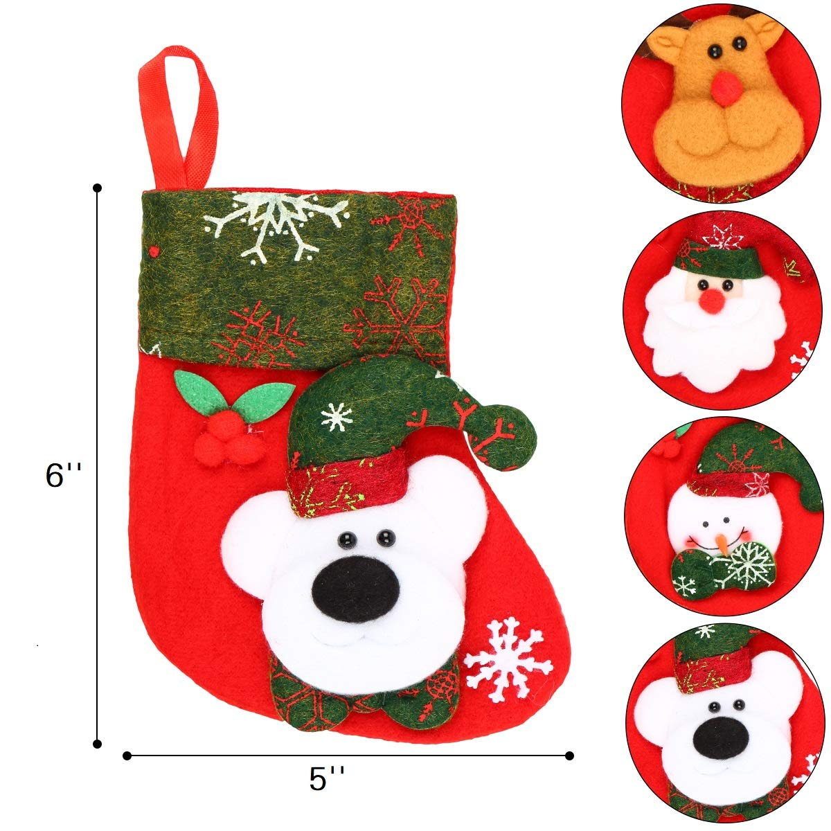 Aitey Mini Christmas Stockings Bulk, 12 Pack 6″ Small ...