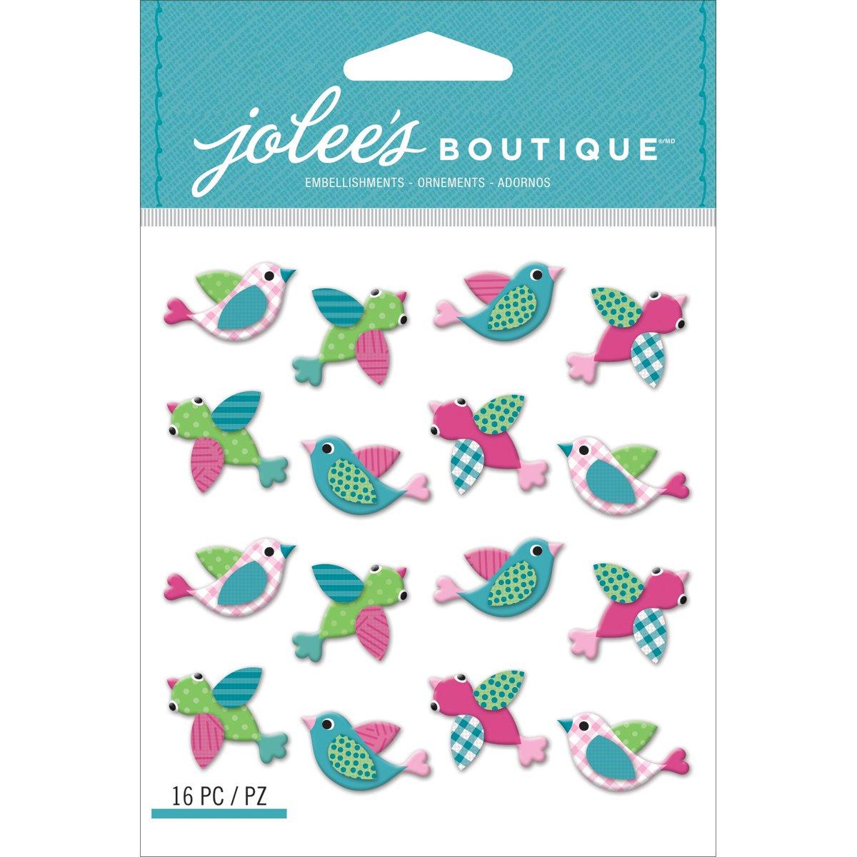 Jolees Boutique Dimensional Stickers Pink Birds Repeats Jolee/'s Boutique 50-21675
