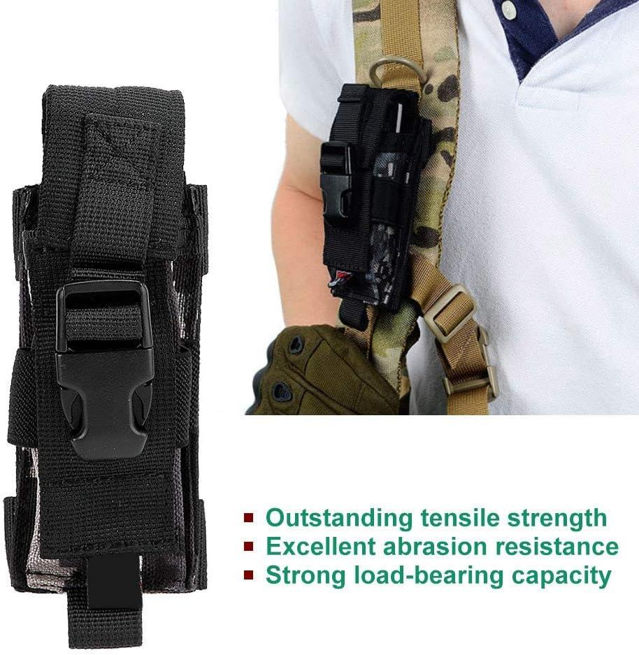 Noir /Étui pour couteau longueur ajustable tissu en nylon de sac de rangement tactique de sac de rangement tactique en nylon portatif ext/érieur multifonctionnel