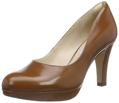 Clarks Damen Crisp Kendra Pumps, Braun (Cognac Leather), 36
