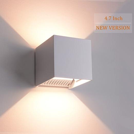 FC1381/FC1239 - Lámpara de pared (12 cm, 12 W, regulable, para exteriores, resistente al agua, regulable, clase energética A+), [12cm] 12w Wandleuchte Nicht Dimmbar, blanco: Amazon.es: Iluminación