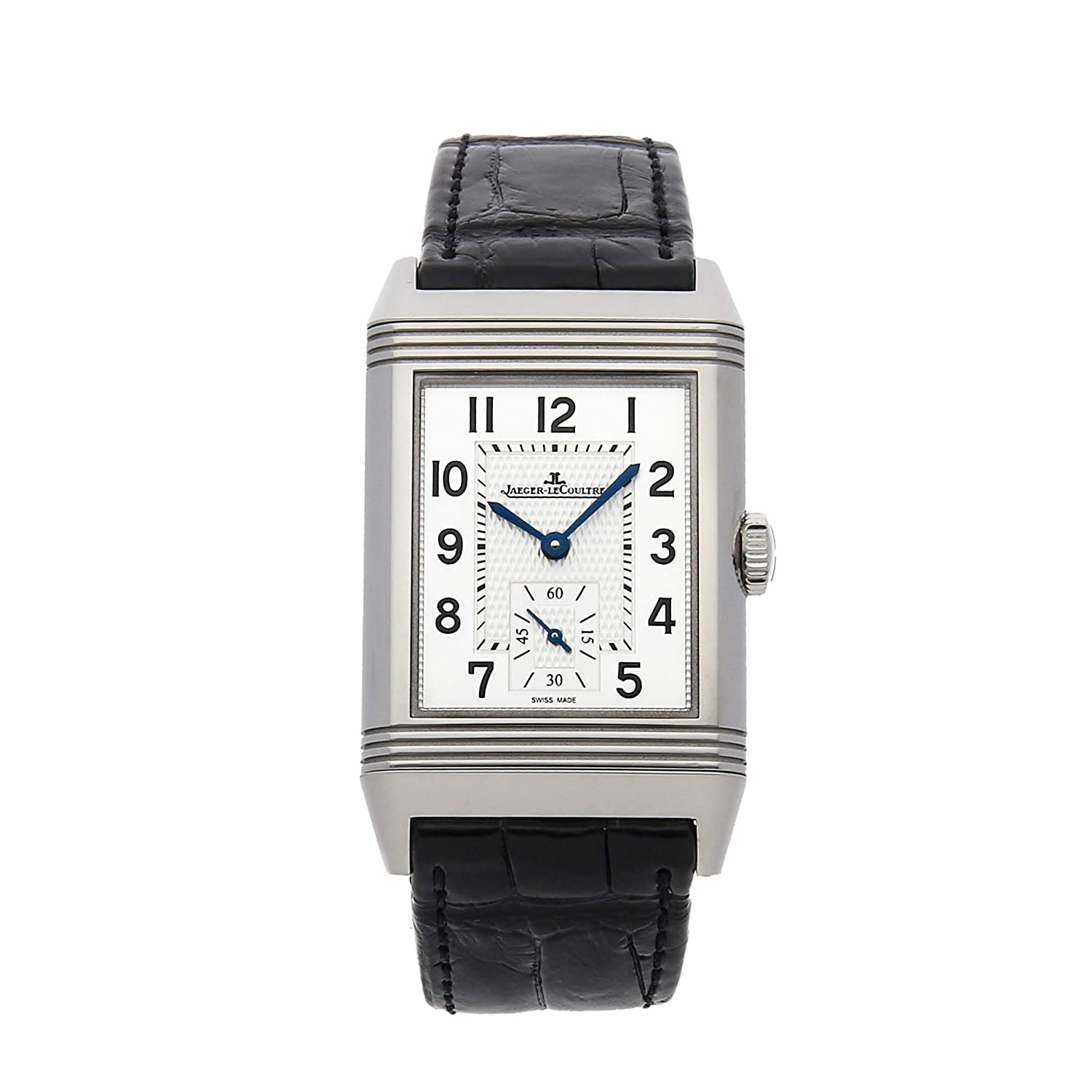 Jaeger-LeCoultre Reverso Mechanical (Hand-Winding) Silver Dial Mens Watch Q3858520 (Certified Pre-Owned)