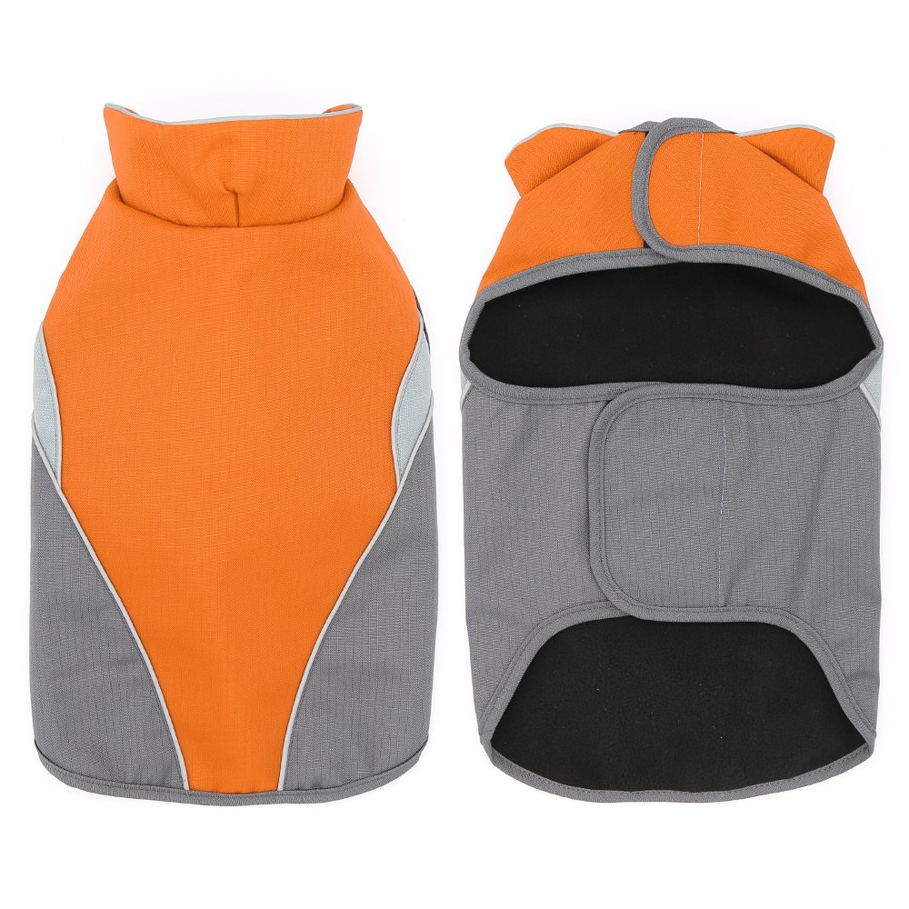 Clan_X Outdoors Dog Coat, Waterproof & Durable Warm Jacket Applied for All Year Around,Available Sizes in XS, S, M, L, XL, XXL.(XXL, Orange)