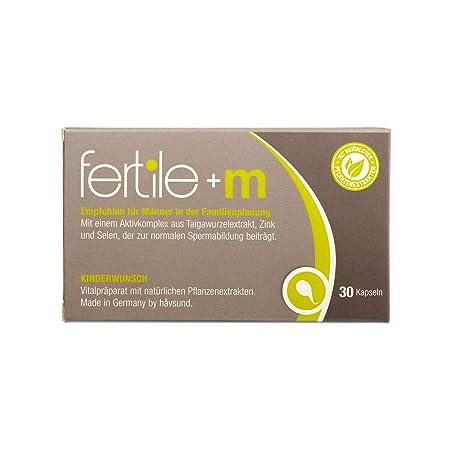 håvsund fertile+m - Nahrungsergänzung für Männer mit Kinderwunsch - Selen, Zink, Vitamin B6 - Hergestellt in Deutschland - 30