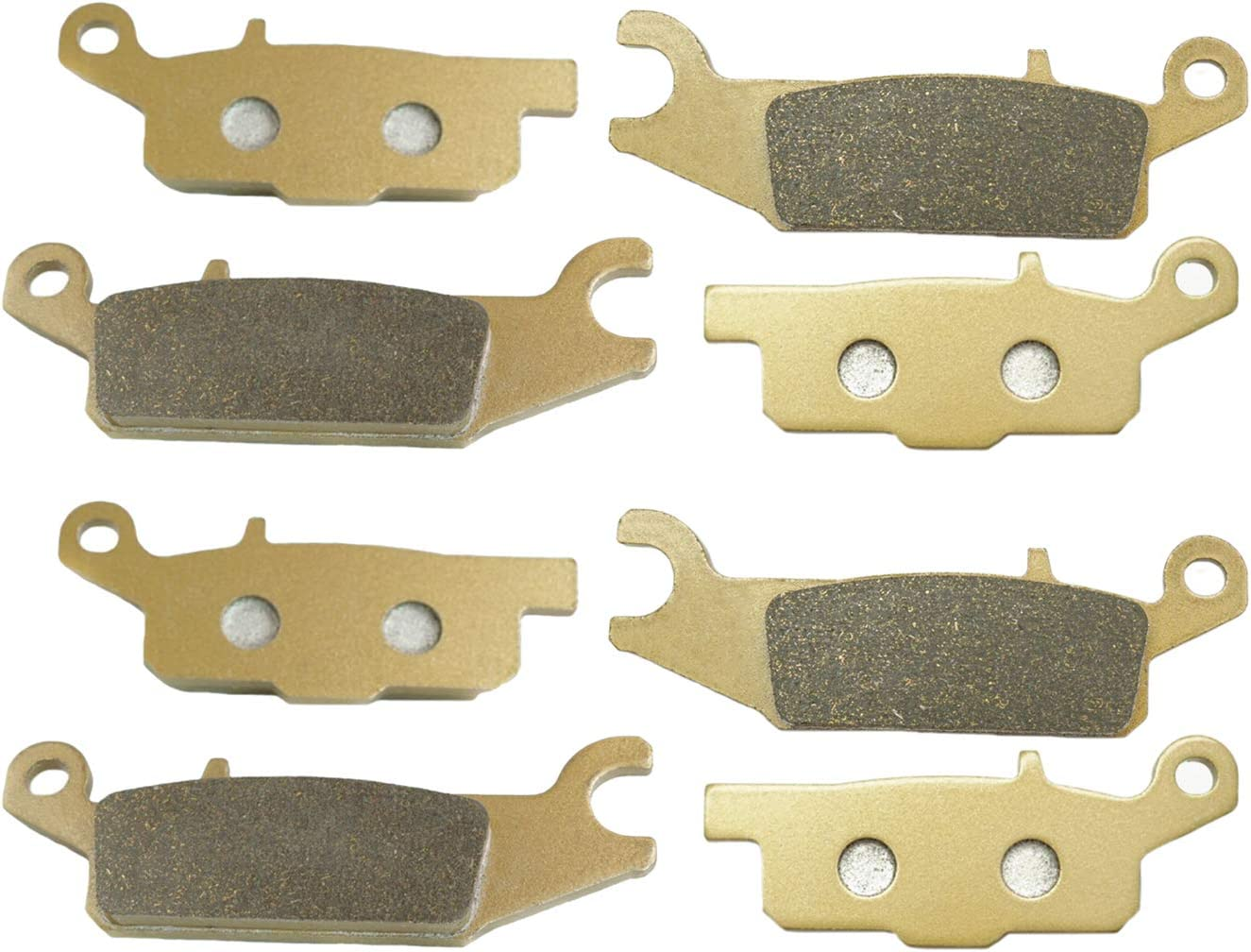 Lefossi Motorcycle Replacement Front and Rear Brake Pads for ATV Yamaha YFM700 YFM 700 Grizzly 2007 2008 2009 2010 2011 2012 2013 2014 2015 2016 2017 2018 FA443F FA444F FA445R FA446R