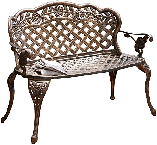 Christopher Knight Home Santa Fe Cast Aluminum Garden Bench