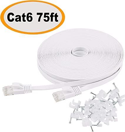 FLAT Ethernet CAT 5e RJ45 Network LAN Cable Lead FULL COPPER Wholesale