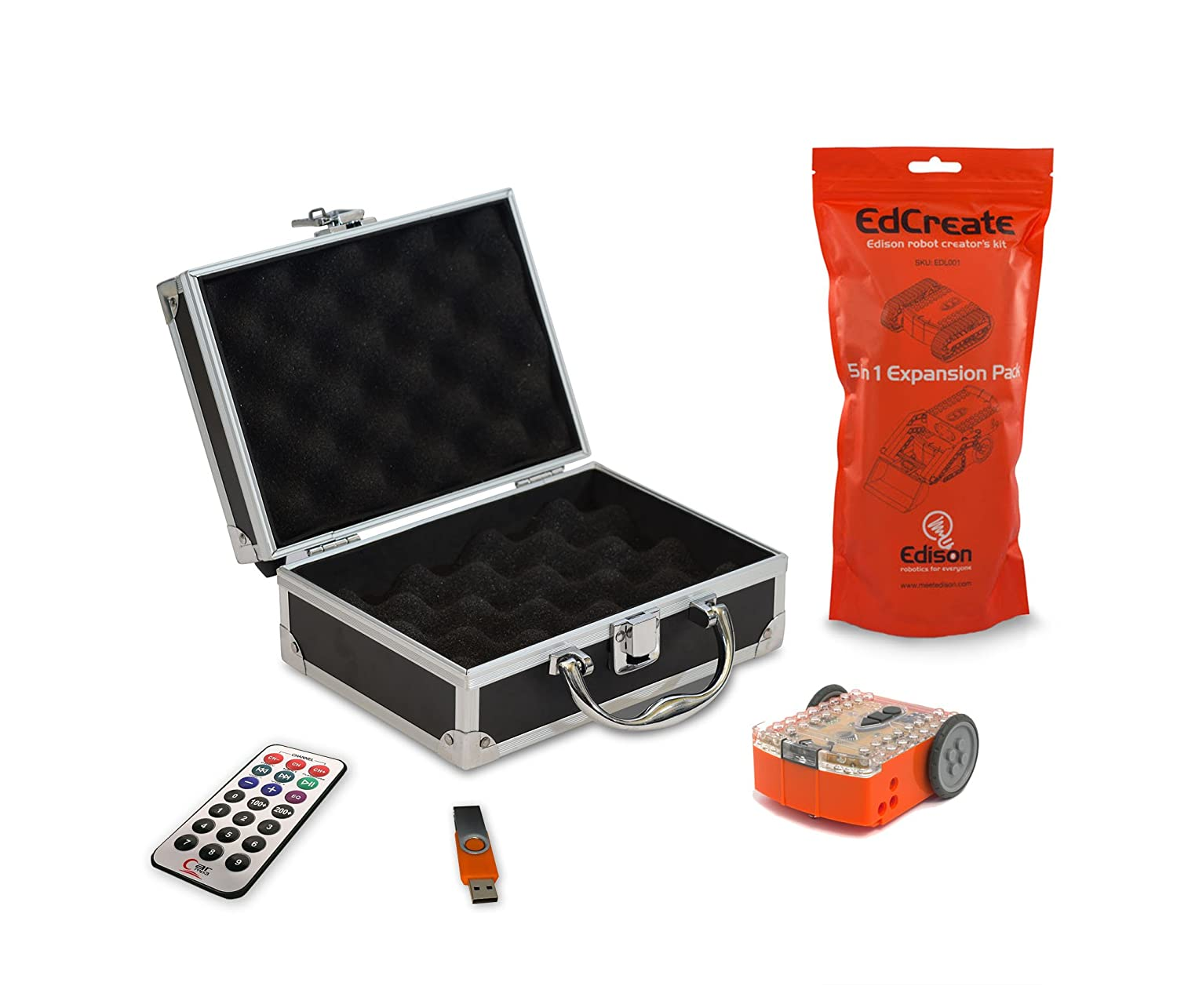 Carrying Case Contempo Views Edison Robot V2 Programmable Educational Bot STEM Coding Kit USB with Software Package Includes IR Remote Resources /& Lesson Plans.