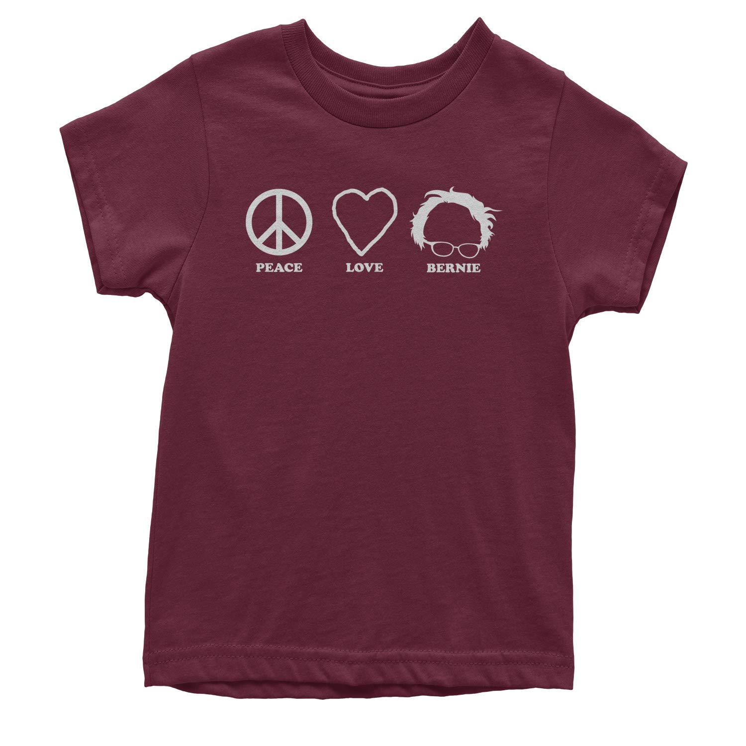 Expression Tees Peace Love Bernie Sanders for President Youth T-Shirt