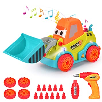 6 in 2... iBaseToy Take Apart Toy Truck for Kids Building Vehicle Toys