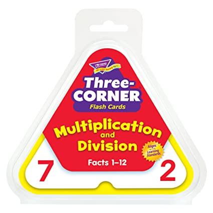 Multiplication And Division Three Corner Flash Cards