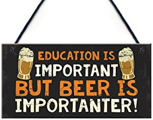 Meijiafei Hilarious Funny Bar Sign Novelty Home Bar Man Cave Pub Sign Alcohol Beer Gift 10