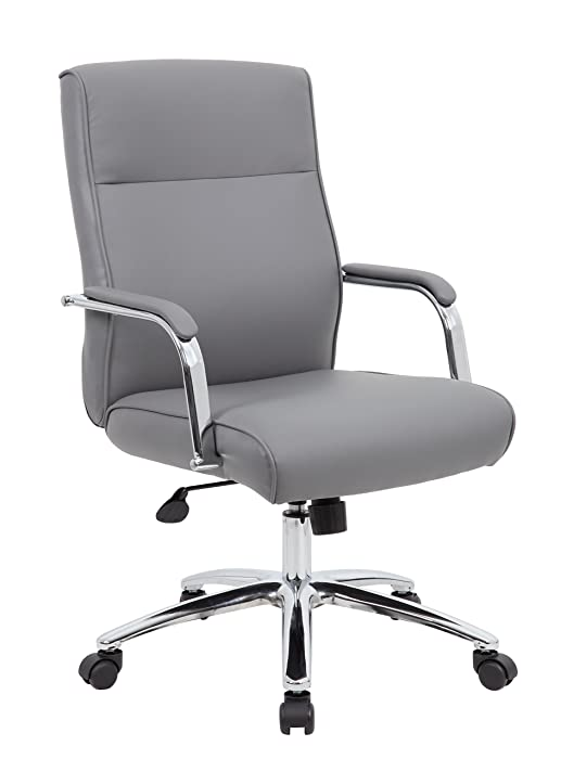 Boss Office Products B696C-GY Chairs Executive Seating, Grey
