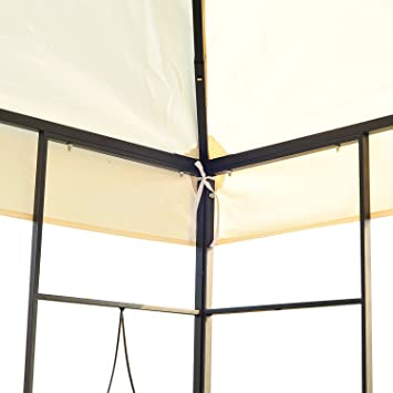 Outsunny – Carpa de jardín Pérgola (Metal Crema 2.95 x 3.95 cm): Amazon.es: Hogar