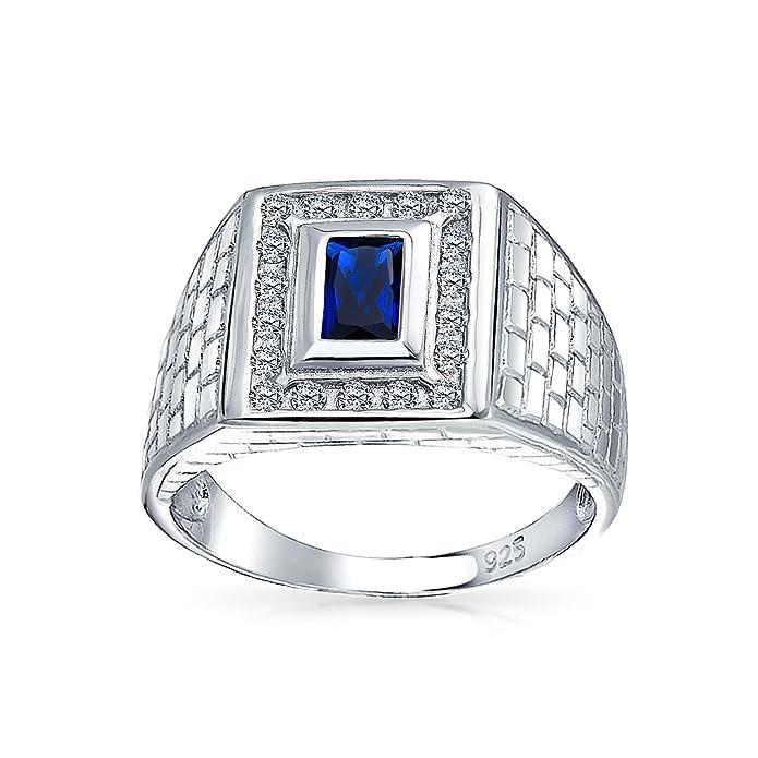 Lab Opal Ring Bleu créé géométrique Inlay 6 mm 925 Sterling Silver Band
