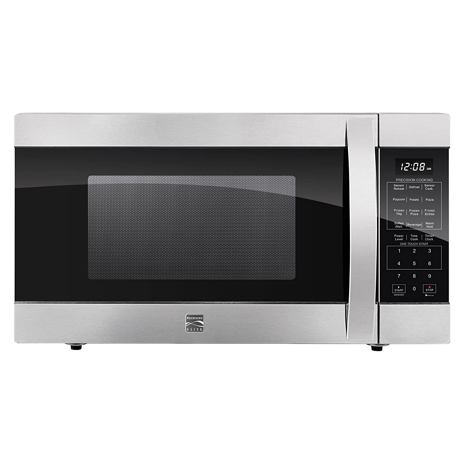Kenmore Elite 79393 2.2 Cubic Foot Counter Top Microwave Oven in Stainless Steel