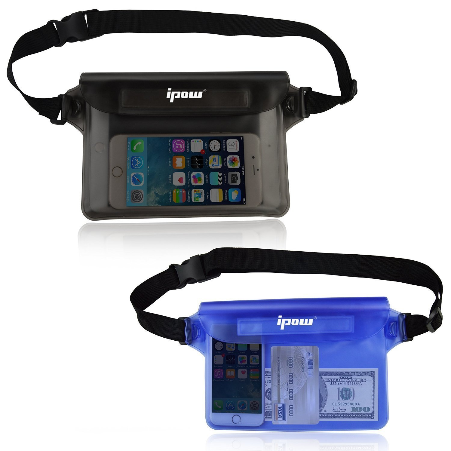 3cfd0ab8911  2 Pack  Ipow Waterproof Pouch Bag Case Waist Strap for Beach
